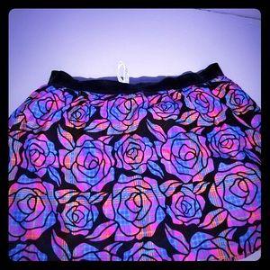Aeropostale women's plus floral skirt